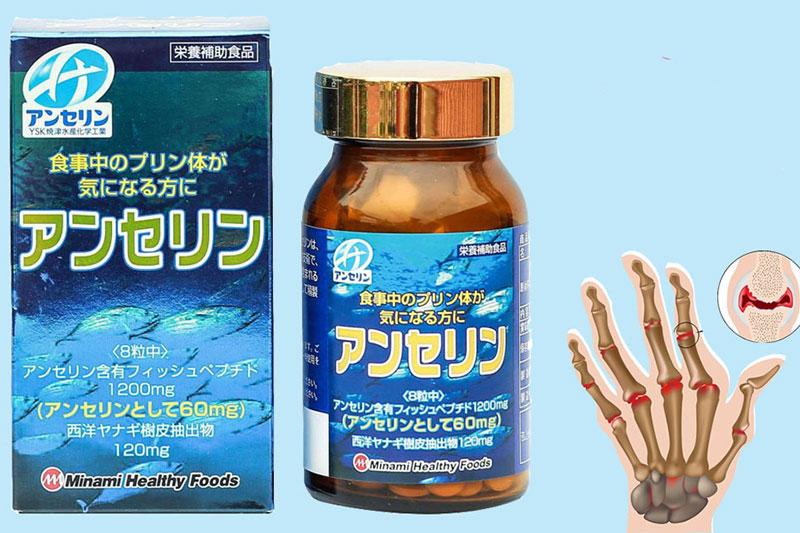 Viên uống trị gout Anserine Minami hỗ trợ điều trị gout hiệu quả hàng đầu Nhật Bản